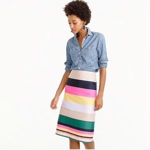 J Crew Pop Stripe Skirt G1530